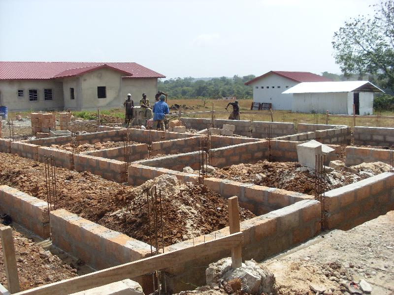 Ward C Progress with Surgical Building in background