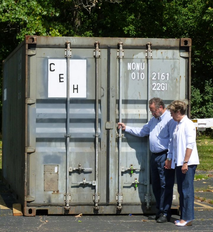 Dwight and Debbie with Container L