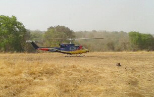 Helicopter landing at CEH