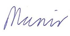munir signature
