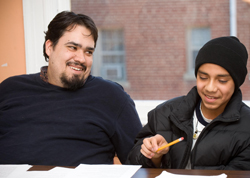Patrick and student
