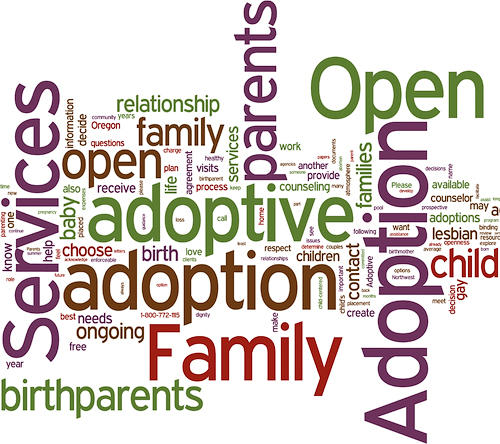 Open Adoption & Family Services Word Art