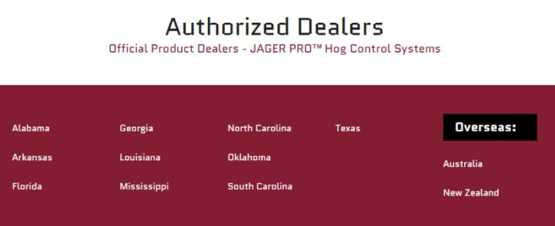 JAGER PRO Authorized Dealers