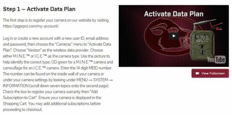 Step 1- Activate Data Plan