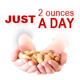Just 2 ounces of peanuts a day