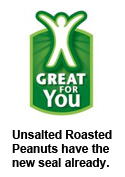 Unsalted Roasted Peanuts have the new Walmart seal already
