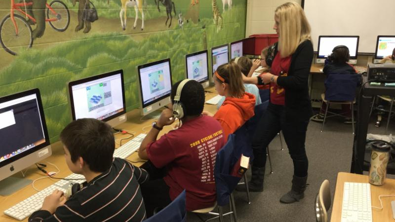 Sawyer Elementary, Hour of Code 2014