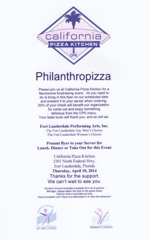 FTLWC Logo JOIN US FOR PHILANTHROPIZZA! THURSDAY, APRIL ...