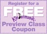 Free Kindermusik Class Coupon (ages 0-7 yrs) at PCU