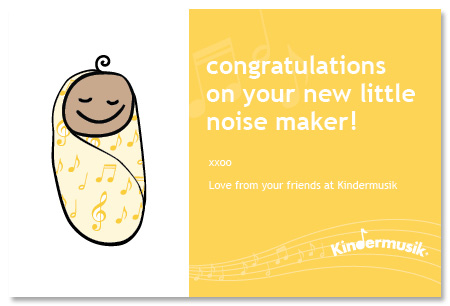 Congratulations on your new Baby at Kindermusik and Parent Child U!