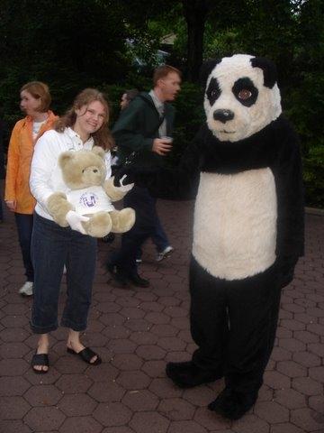 Miss Tracey & National Zoo Panda at Guppy Gala Fundraiser!
