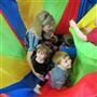 Parachute fun at Parent Child U & Kindermusik!