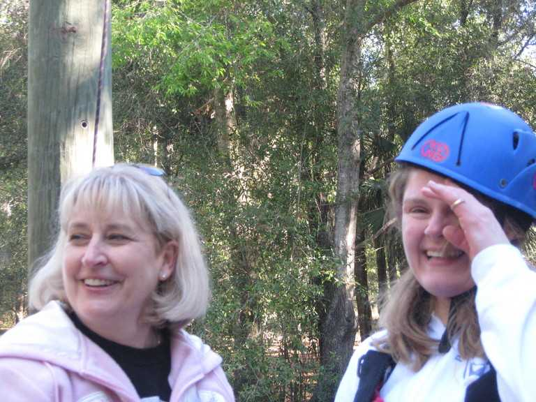 Becky Bailey & Tracey Kretzer at Conscious Discipline II ropes course.