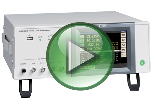 Hioki IM3570 Impedance Analyzer Video