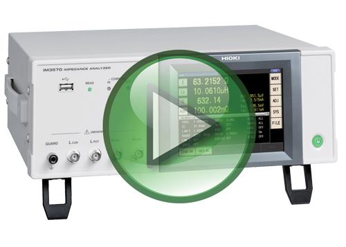 Hioki IM3570 Impedance Analyzer Video