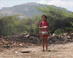 Girl on Street in Cien Fuegos