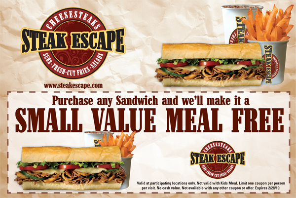 Steak Escape Coupon