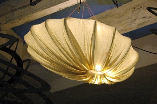 Detail of a custom lighting element, Meg Saligman, Salida del Sol, NMSU Center for the Arts Performance Hall.