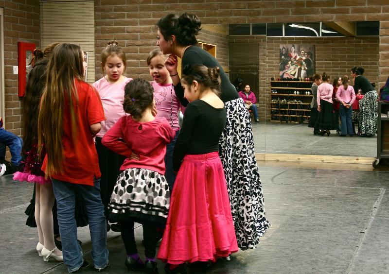 Intro to Flamenco class 2012, Institute for Spanish Arts, photo credit: Marisela Angulo.