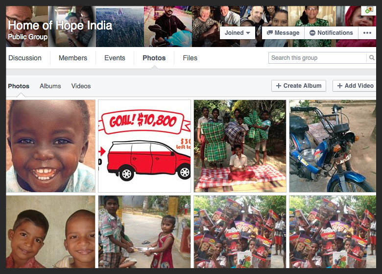 Home of Hope India Facebook group