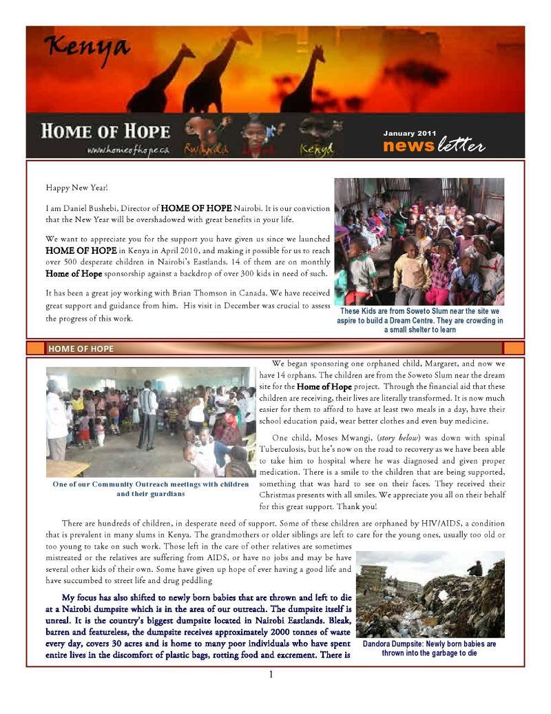 Nairobi Newsletter-Jan2011