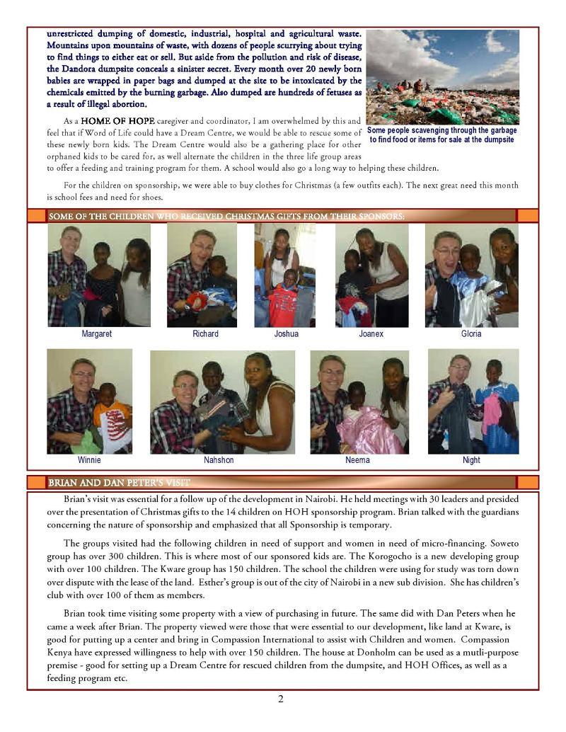 Nairobi Newsletter-Jan2011 page 2
