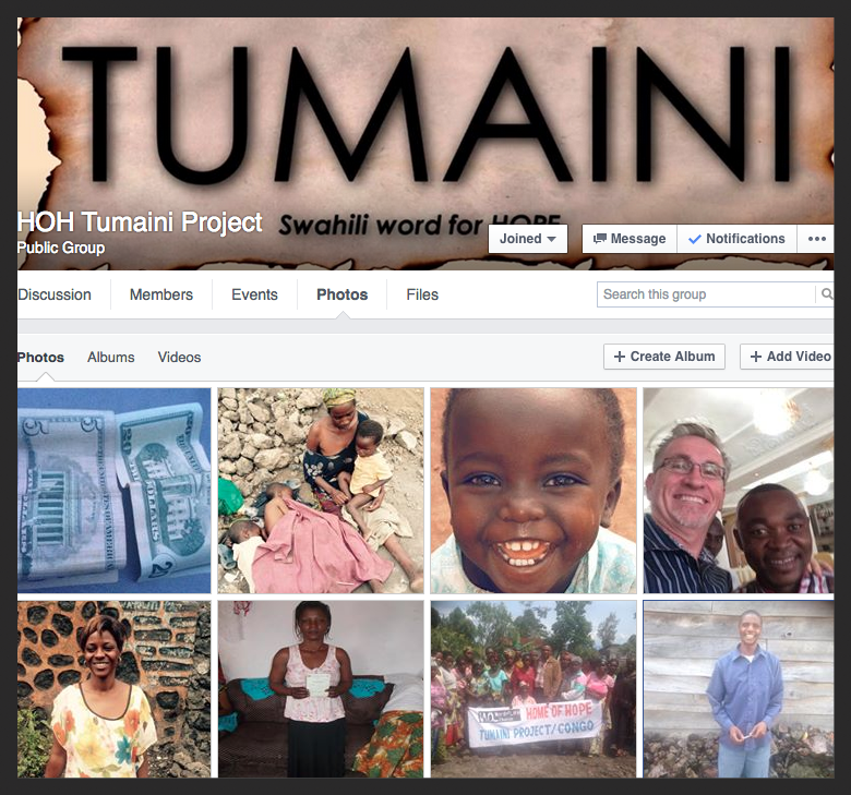 Tumaini Project Facebook Group