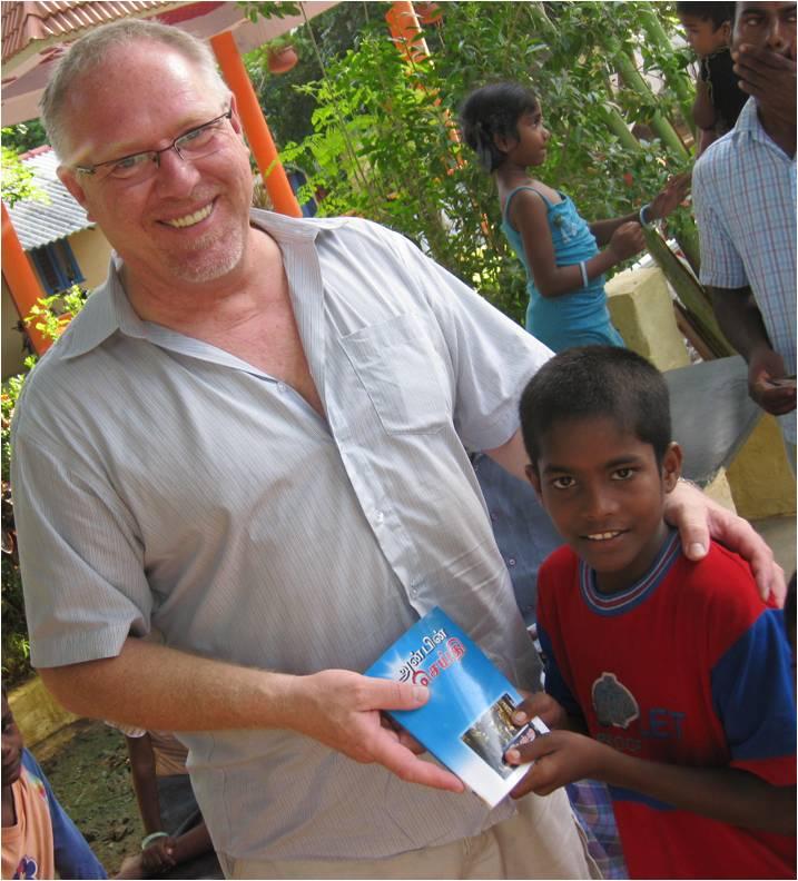 Dan Giving Bible Away