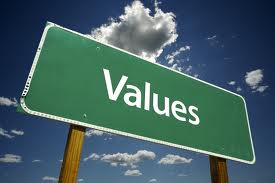 Values sign