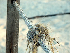 Rope frayed