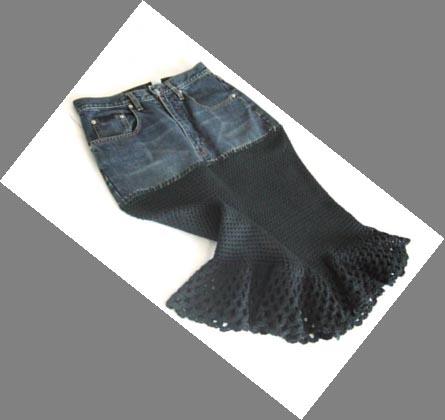 SassyFran signature fishtail skirt black