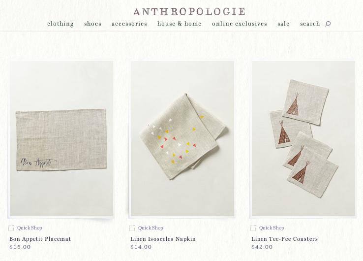 Linea Carta @ anthropologie.com