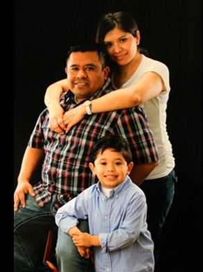 Photo above: Isidro Garcia (deceased due to workplace accident/wrongful death), his wife, and son.