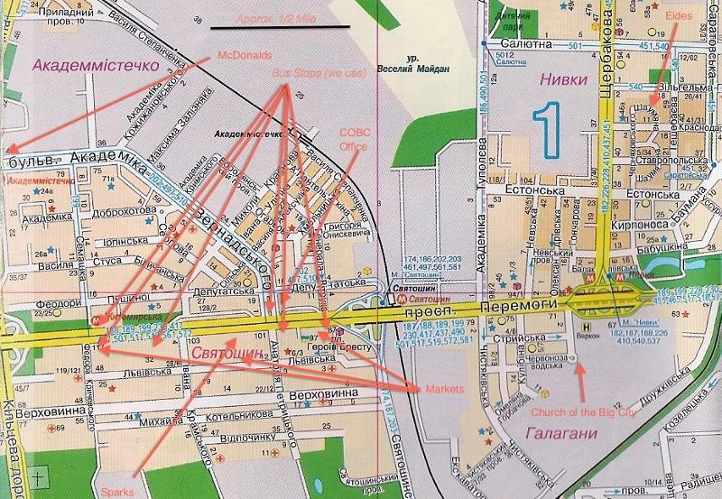 Map of things near our aparment
