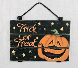 Wood Slat Pumpkin Sign