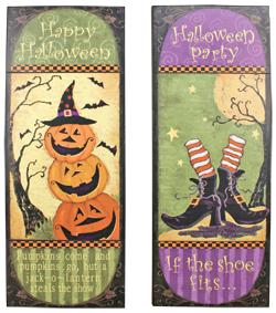 Tall Wooden Halloween Signs