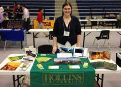 Hollins alumna at college fair