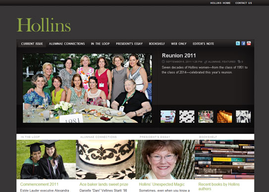 Hollins Magazine is Online