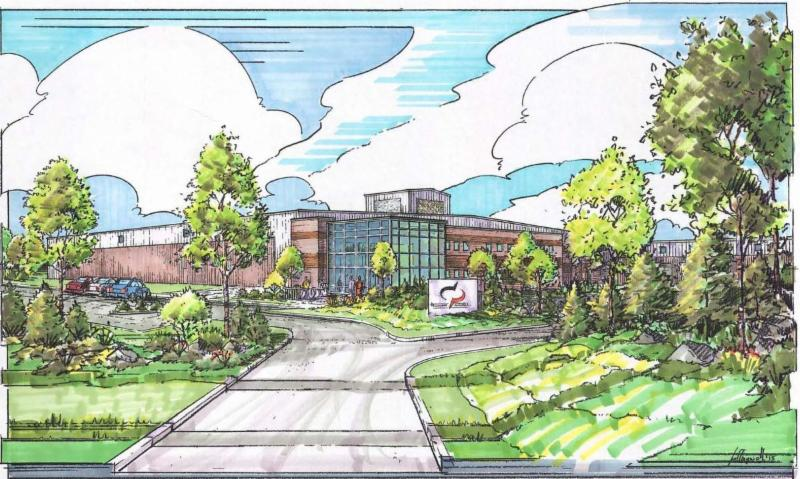 Rendering of DP Electronics Recycling Facility