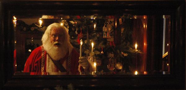 Santa and mirror