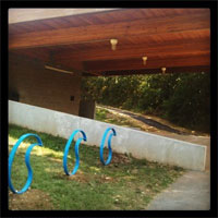bike racks, Watershed Center, Valley Water MIll Park
