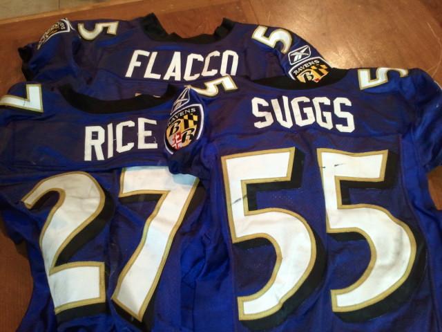 db87715a Baltimore Ravens Game Worn Jerseys!