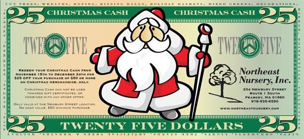 Christmas Cash - Save $25.00