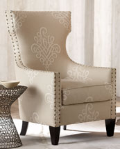 damask accent chair