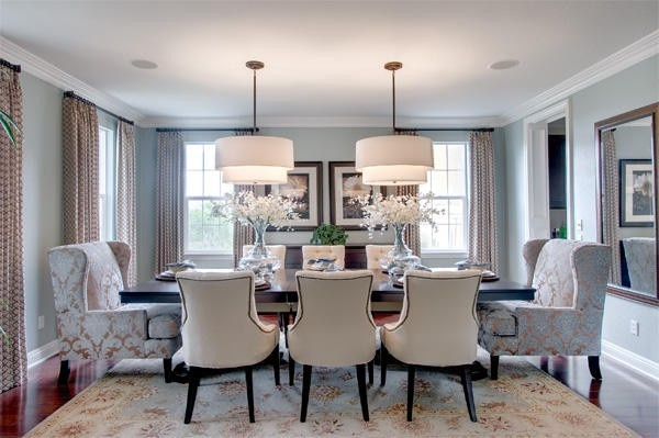 4 Fall Interior Styling Ideas – Damask Dining Room Chairs