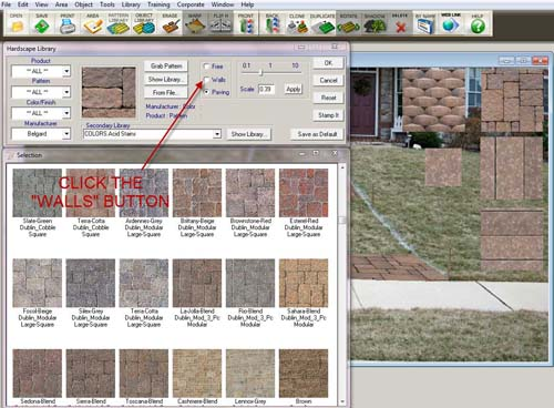 Front Yard Pavers - Click Wall Button