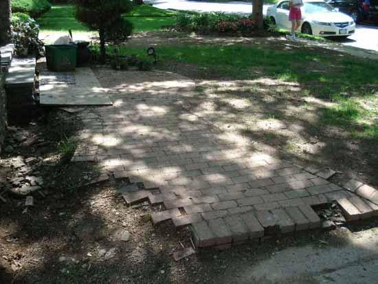 Paver Walkway - Before Photo