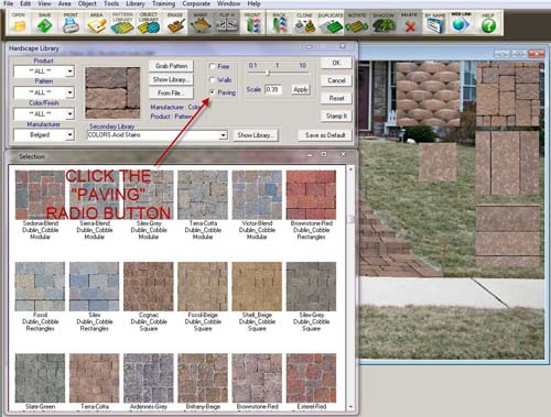 Front Yard Steps - Paver Button