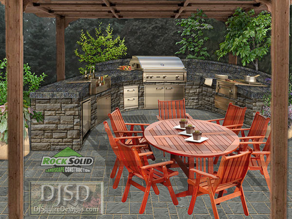 After Image - Outdoor Kitchen Pergola