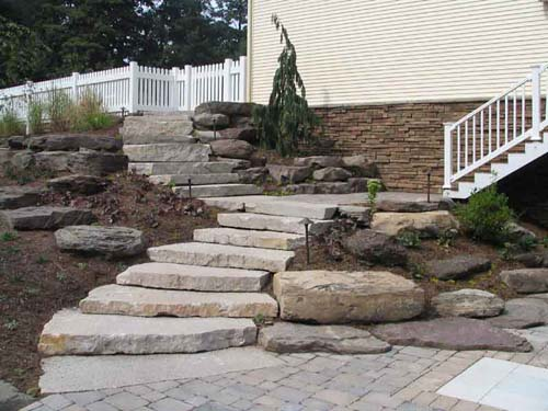 Actual Photo - Natural Stone Steps